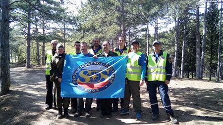 Спасатели «РОССОЮЗСПАС» г. Алушта провели туристско-патриотическую эстафету «Сильные духом»