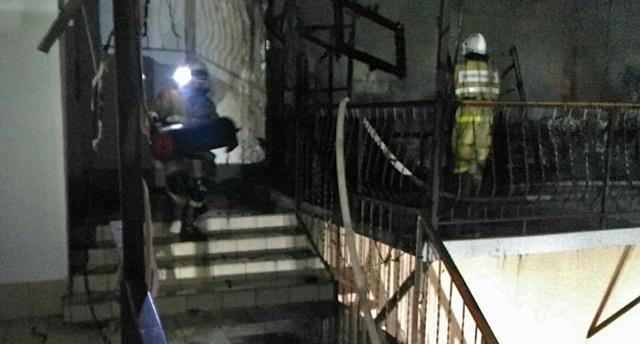Пожар в селе Рыбачье: три газовых баллона грозили двухэтажному дому